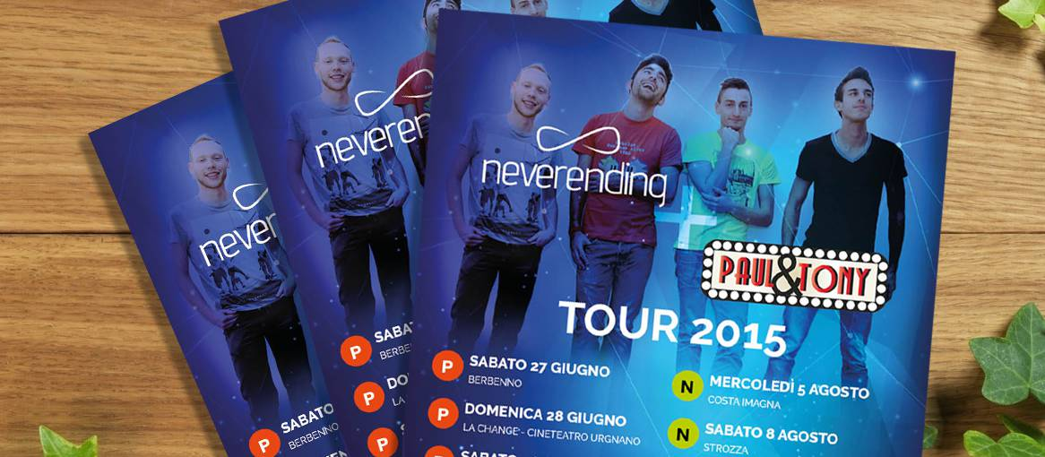 NeverEnding - Locandine Tour Estate 2015