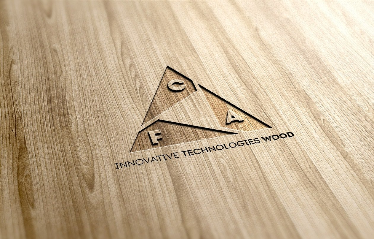 Logo FCA snc su legno