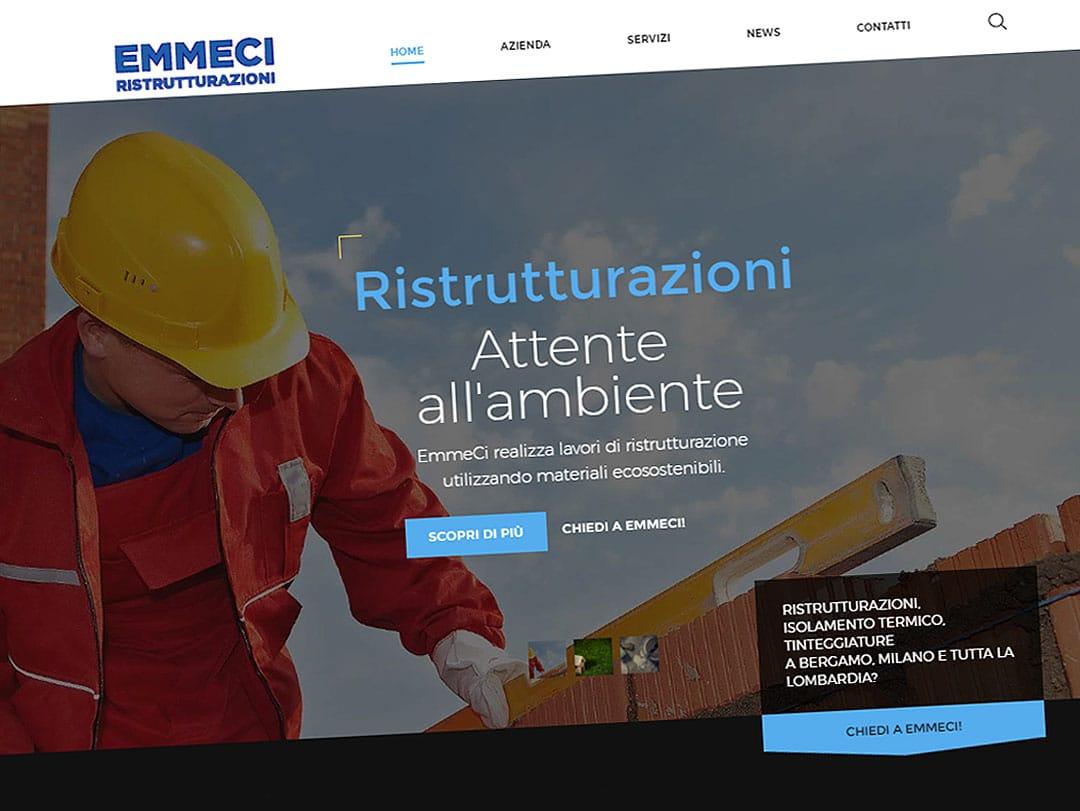 Il sito dell'impresa edile EmmeCi