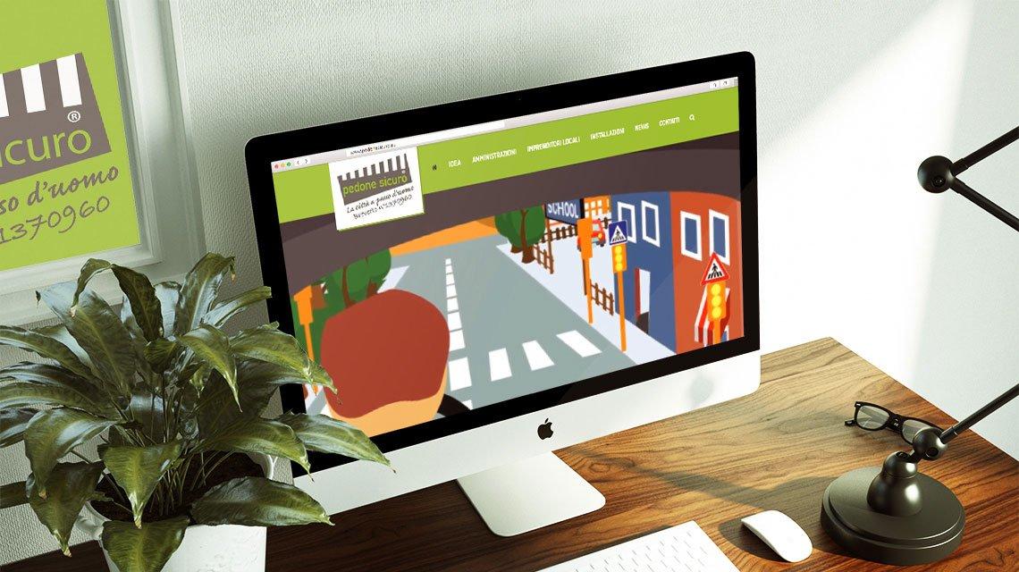 nuovo sito di pedone sicuro- sistema illuminazione attraversamenti pedonali