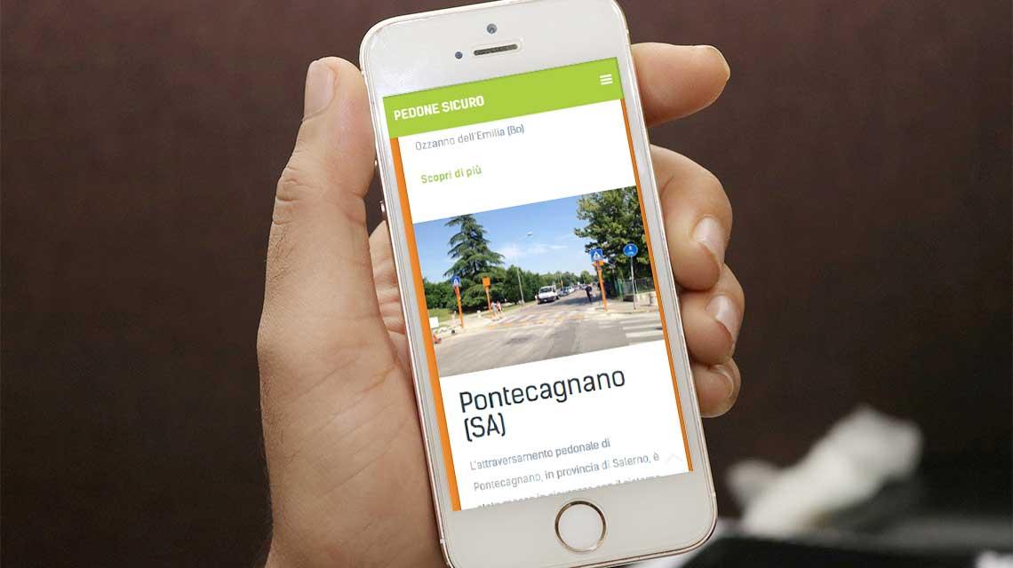 nuovo sito pedone sicuro - versione smartphone
