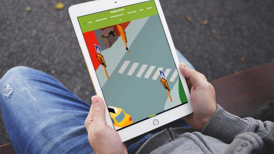 nuovo sito pedone sicuro - versione tablet