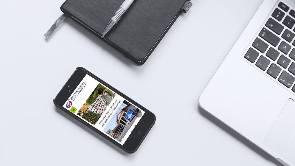 Nuovo sito Obiettivo Vendita - mockup smartphone